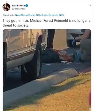 Matan asesino fan Trump: Abatieron al sospechoso agentes federales