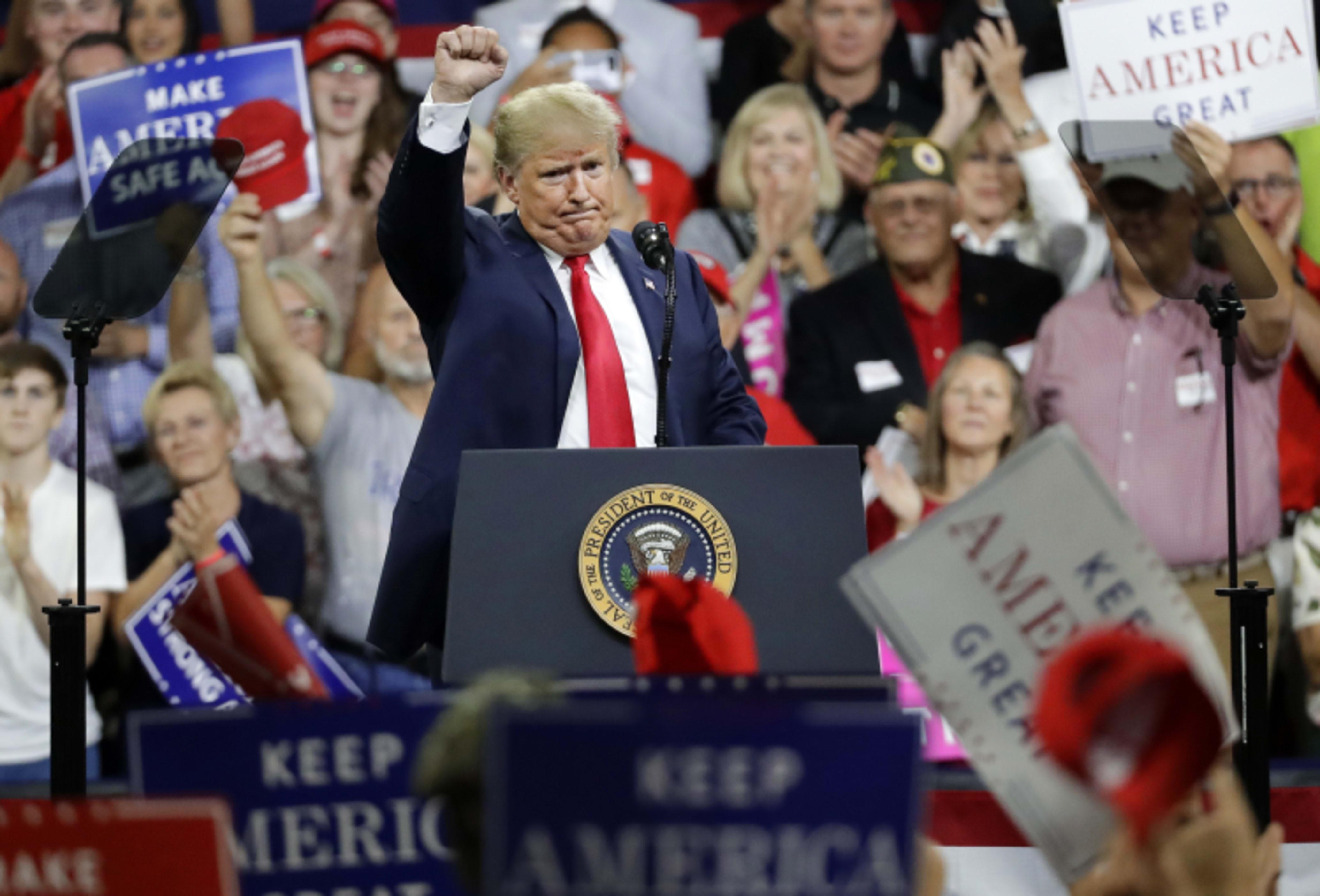 Tratan contener Trump