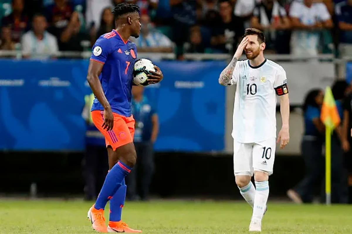 Copa América: Colombia maltrata a Argentina en debut triste para Messi