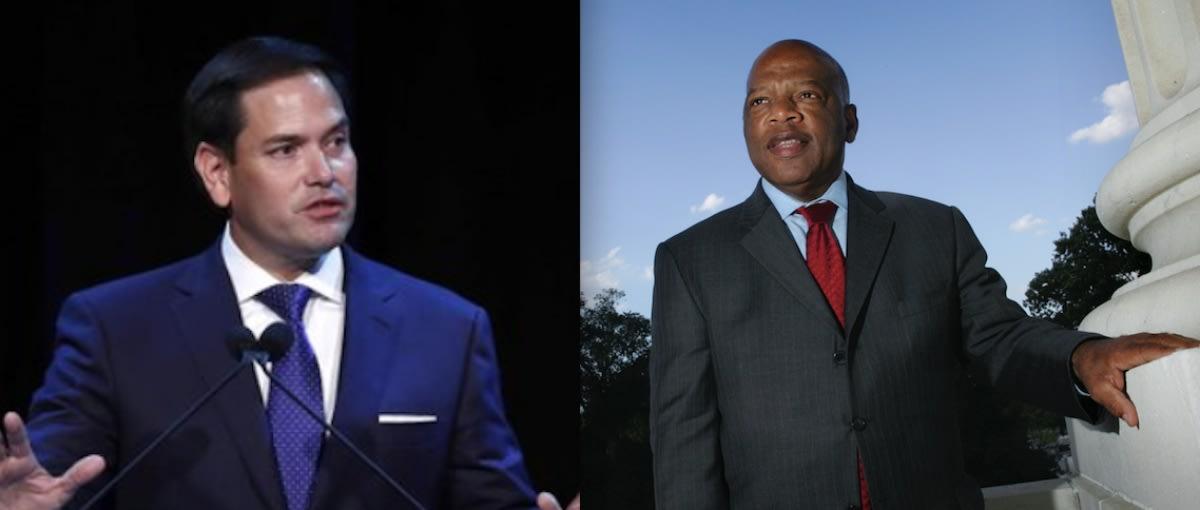 Marco Rubio comete error al tratar de homenajear a John Lewis (FOTOS)
