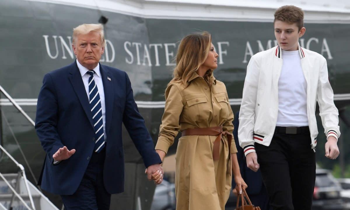 Melania Trump: Barron había dado positivo a COVID-19