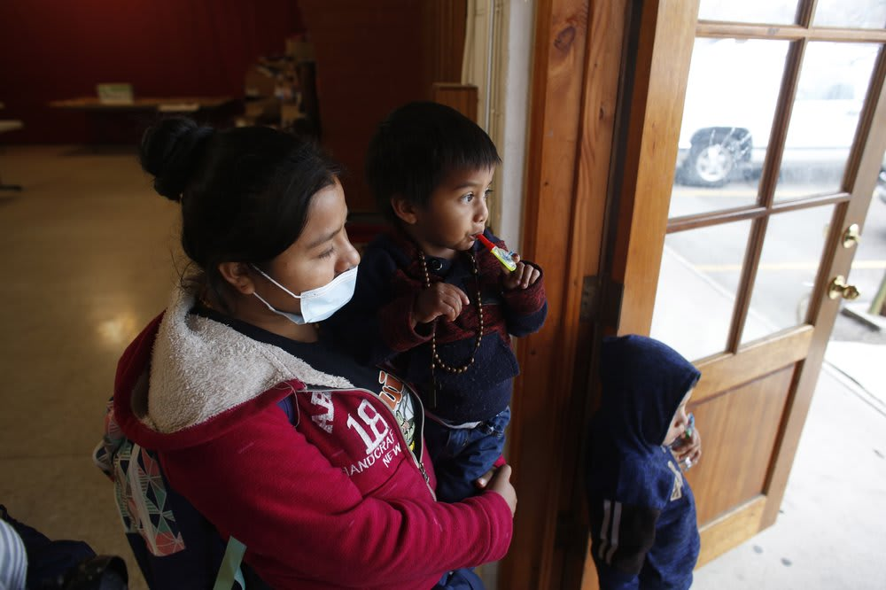 familias migrantes liberadas