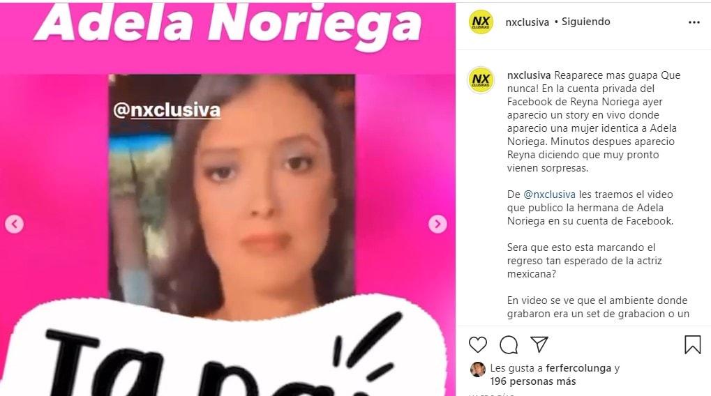 Aseguran que Adela Noriega reapareció pero no creen que sea ella