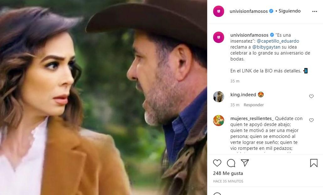 Eduardo Capetillo pierde los estribos con Biby Gaytán por una insólita razón