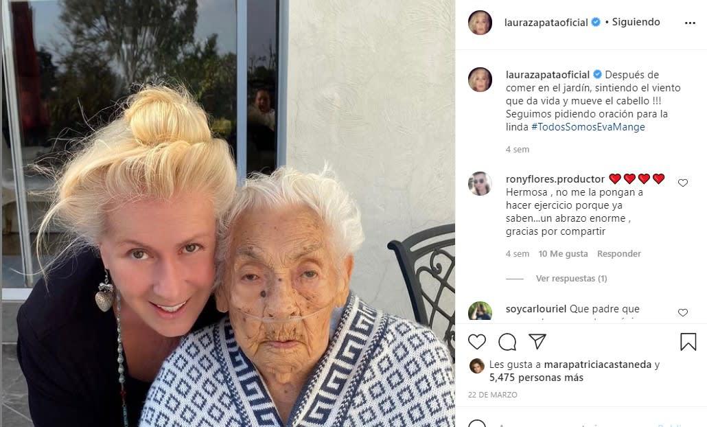 Laura Zapata revela que abuelita de Thalía ya recibió la unción de los enfermos