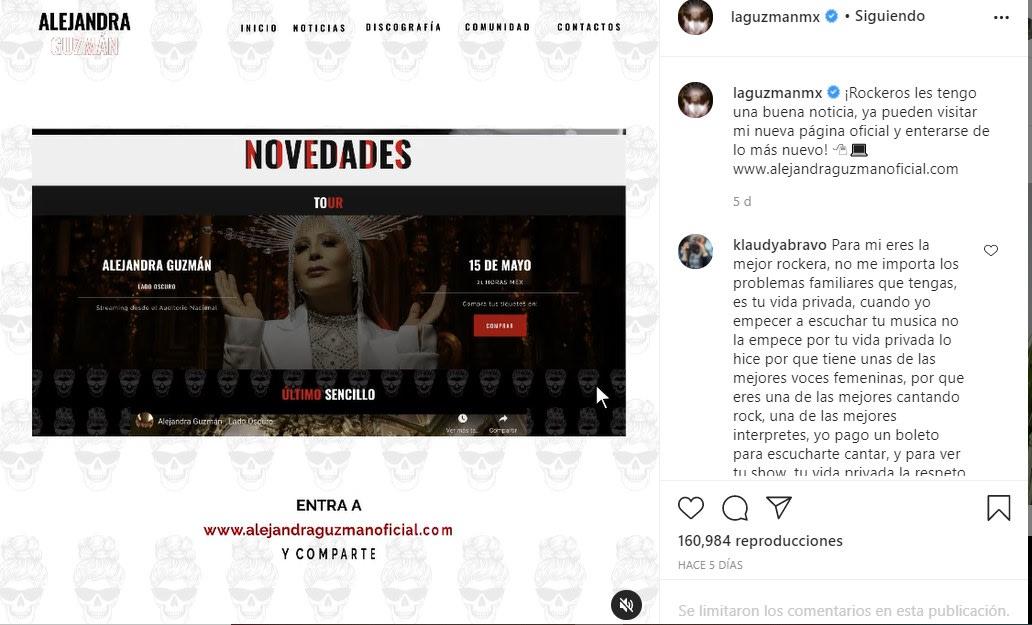 Mientras sigue el escándalo con Frida Sofía, Alejandra presenta su nueva página oficial, usuarios la critican