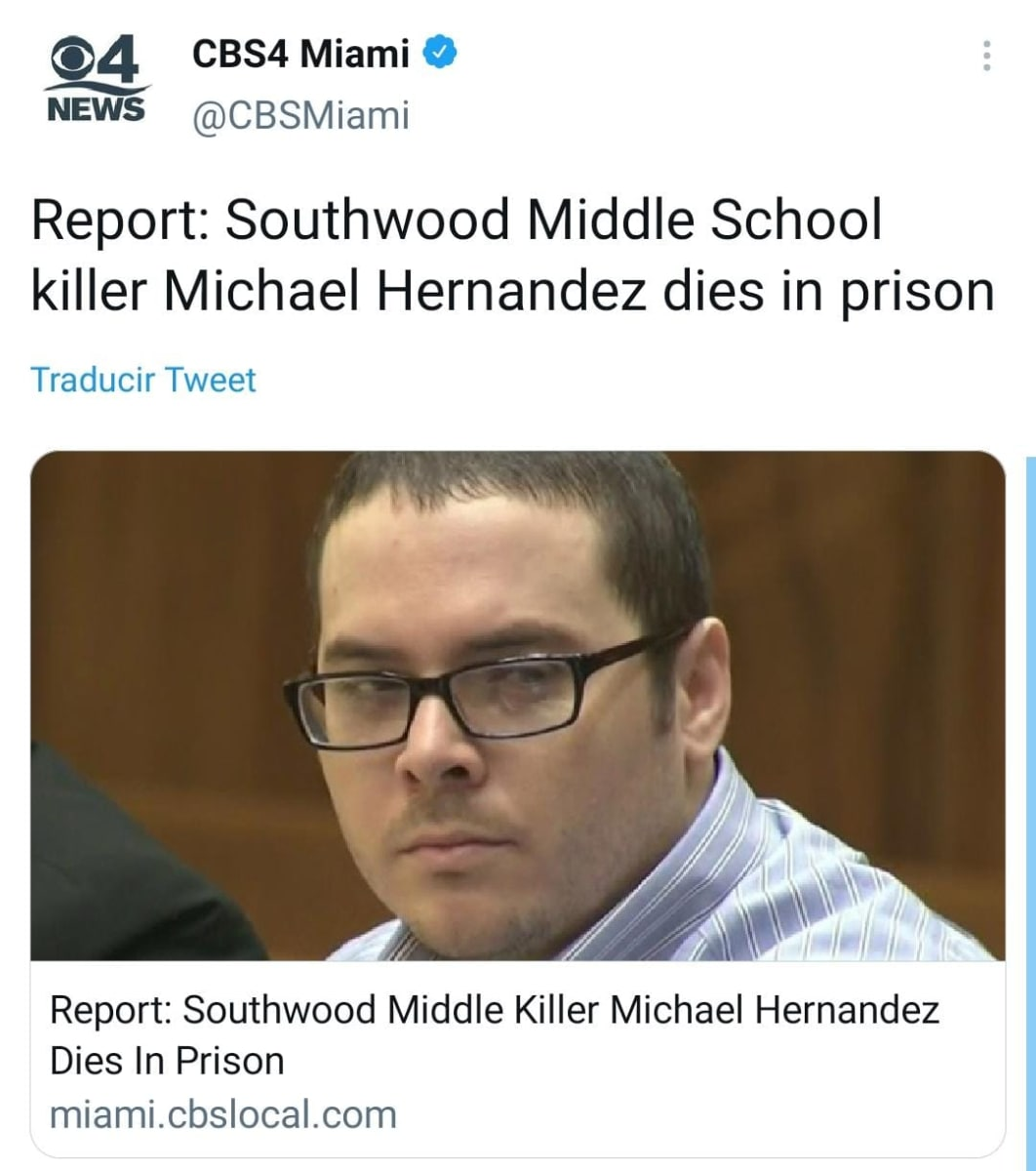 Hispano Michael Hernández, compañero, sentenciado