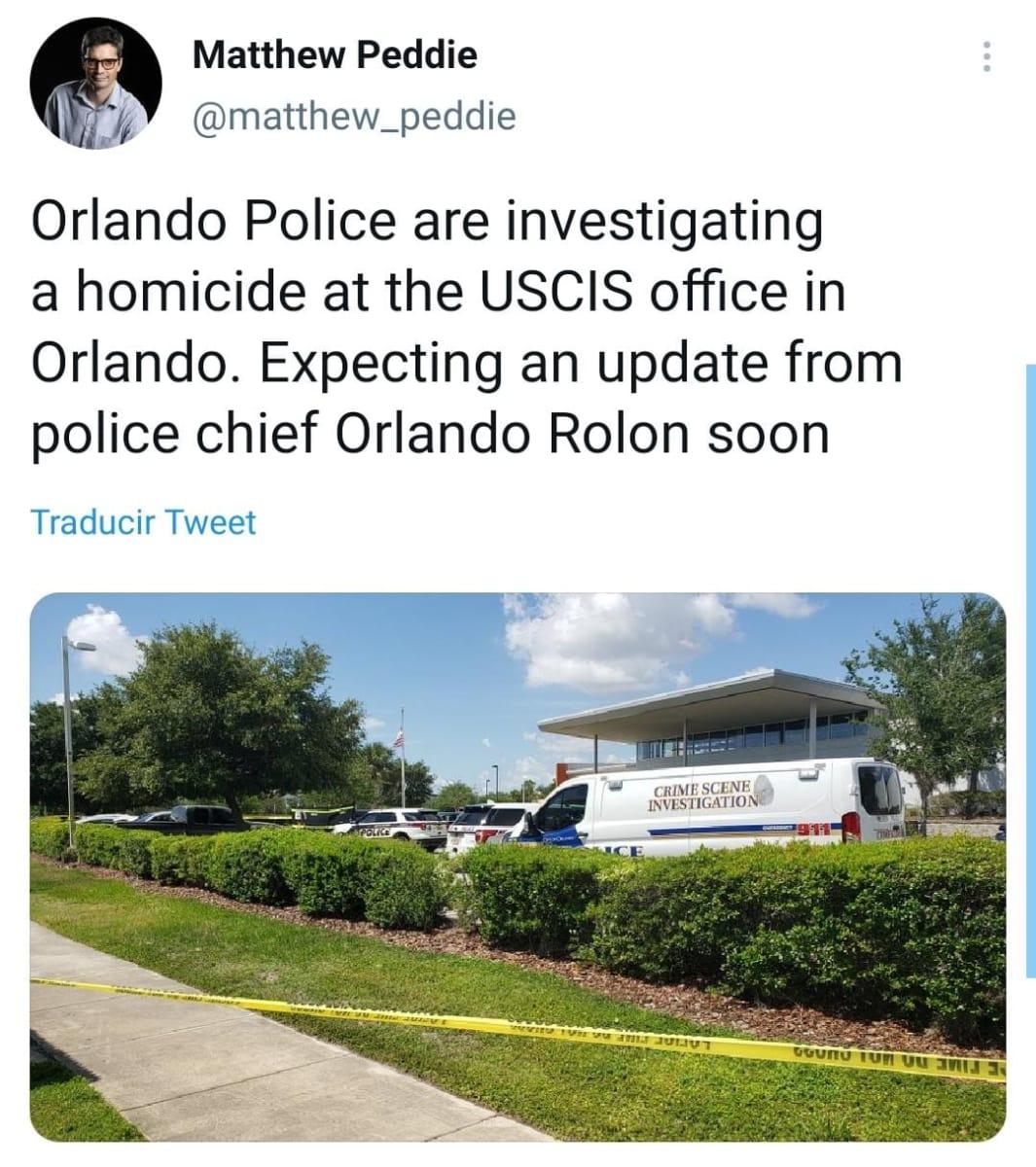 Tiroteo USCIS Orlando