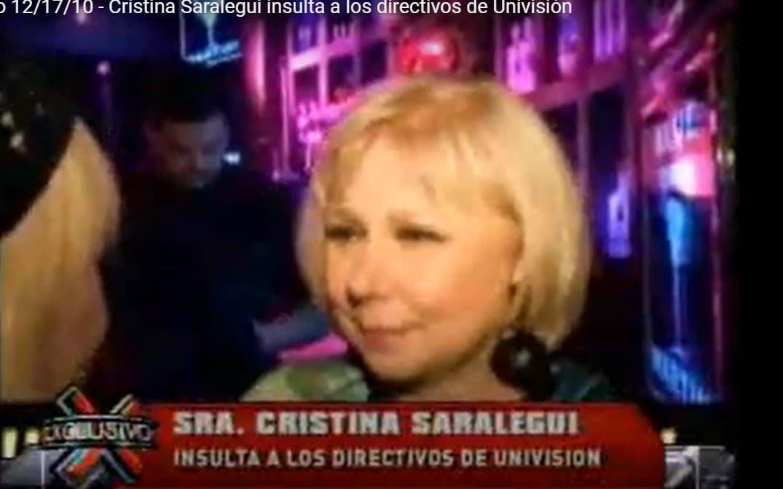 """Justo cuando """"El Show de Cristina"""" regresa a la pantalla por la nueva plataforma de Univision, filtran video del día que insultó a sus directivos"""