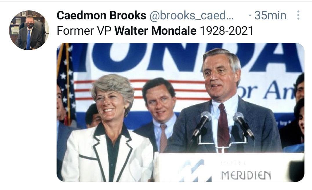 Walter Mondale, Casa Blanca, Exvicepresidente Walter Mondale