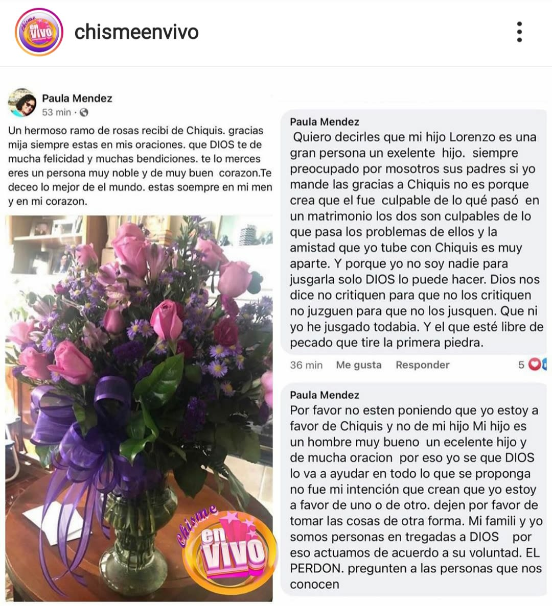 Lorenzo Méndez oraciones madre exesposo Chiquis Rivera 4