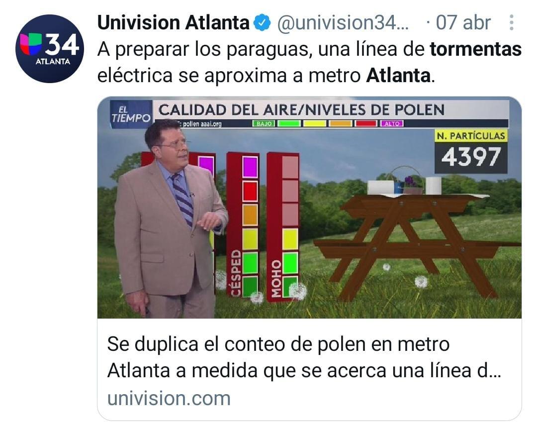 Tormentas Atlanta, alerta por tormentas, riesgo