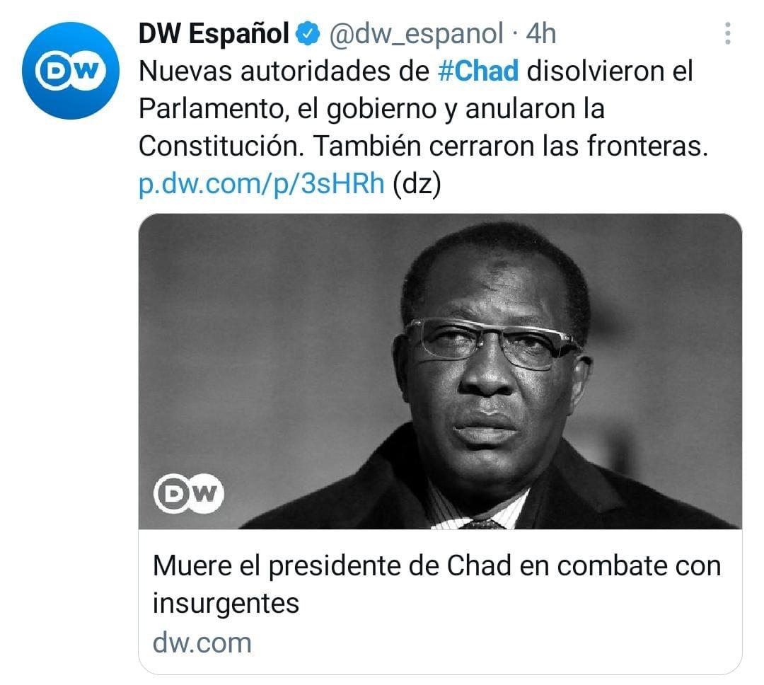 Presidente República de Chad, Idriss Deby Itno