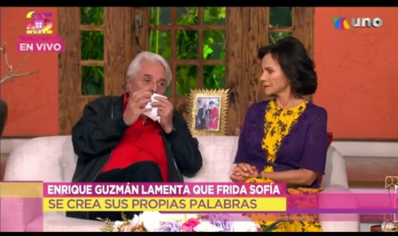 padre de Alejandra Guzmán Enrique Guzmán se desmaya Frida Sofía 2