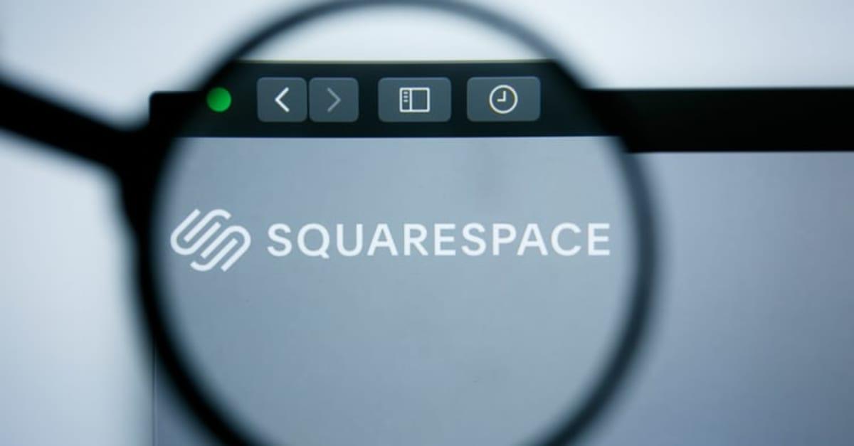 Illustrative Editorial of SquareSpace en nueva york website homepage