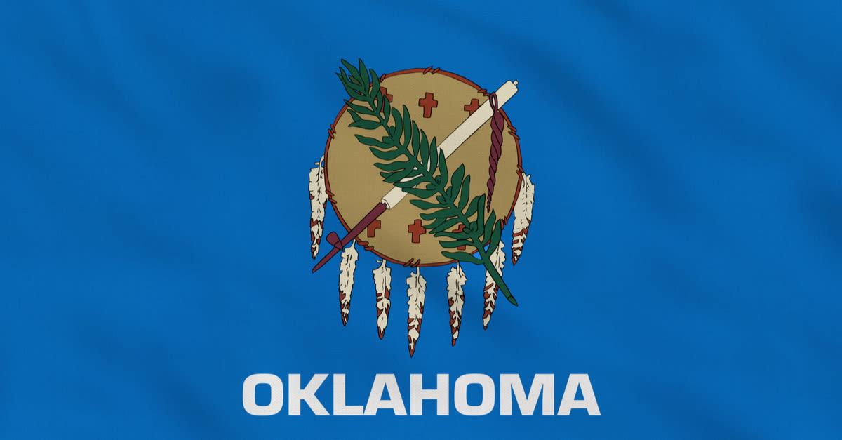 Bandera de tela en bruto del estado de Oklahoma