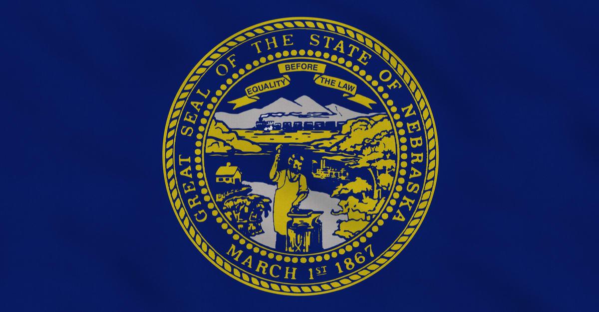 Bandera de tela en bruto del estado de Nebraska