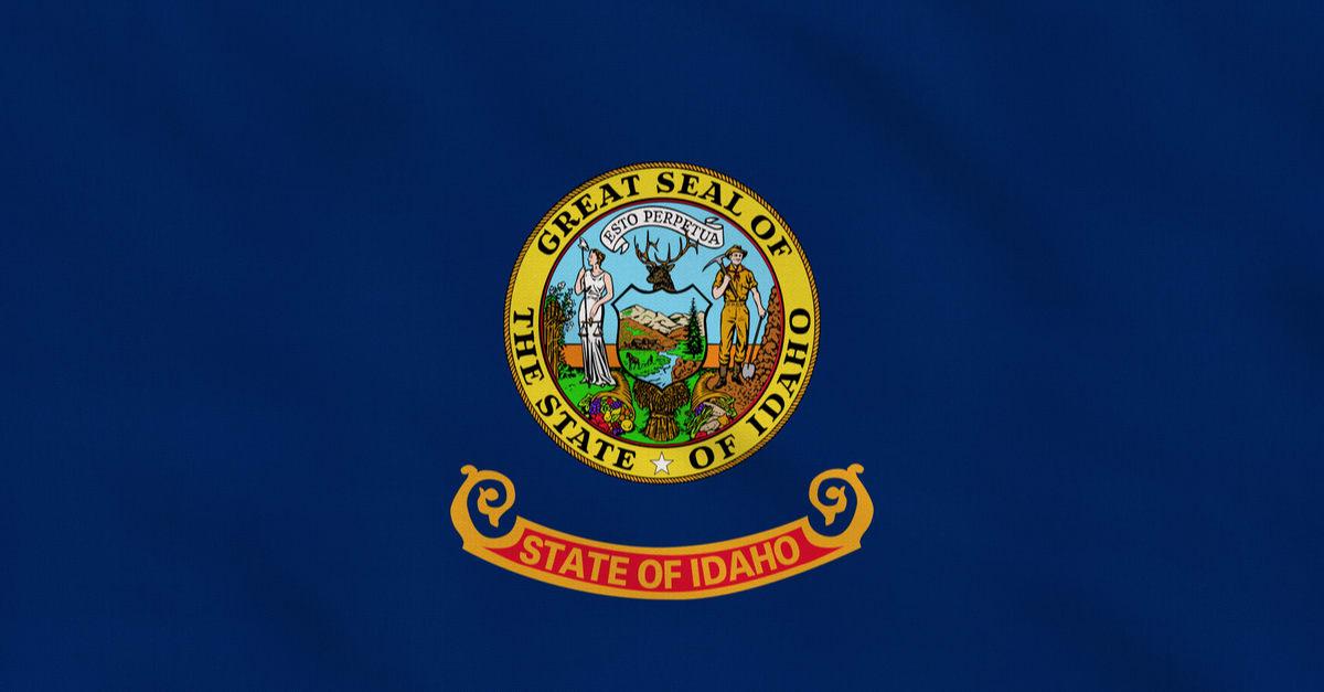 Bandera de tela en bruto del estado de Idaho