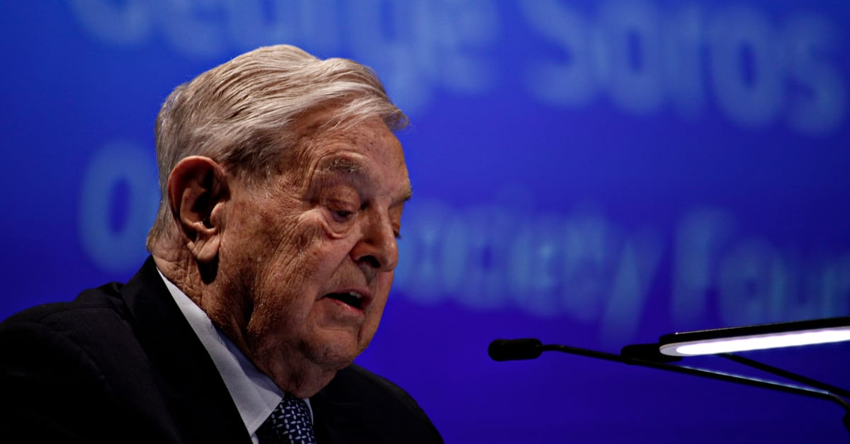 George Soros, Founder and Chairman of the Open Society Foundation gives a speech during Economic Forum in Brussels, Belgium on June 1, 2017 (1)
