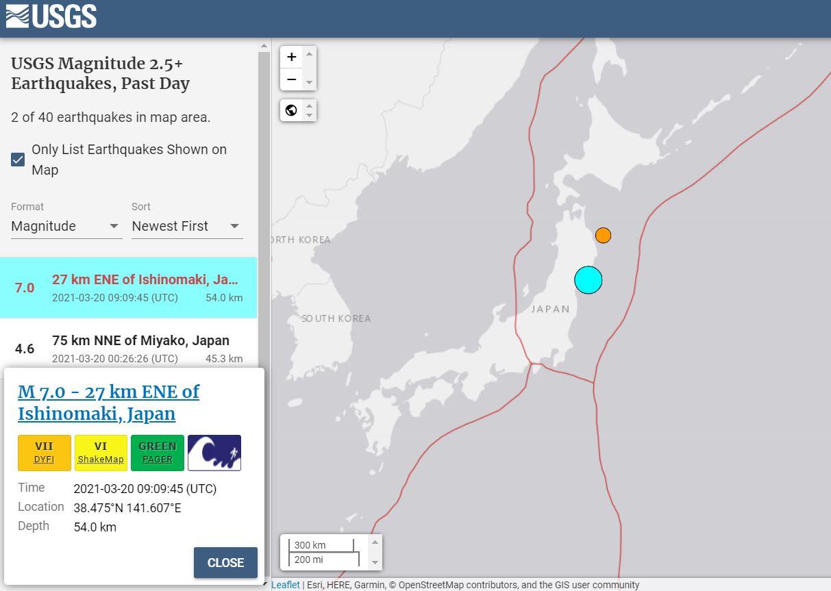 terremoto alerta tsunami Japón