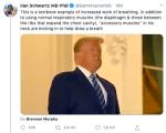Trump respira con dificultad aparentemente según un video