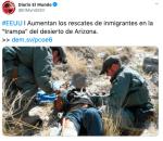 Rescate de inmigrantes en desierto de Arizona aumenta a más de 1,000