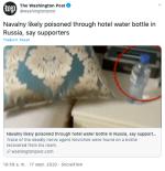 Novichok Navalny: hallan restos de veneno en botella en hotel