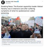 Navalny, opositor rusa en coma tras supuesto envenenamiento