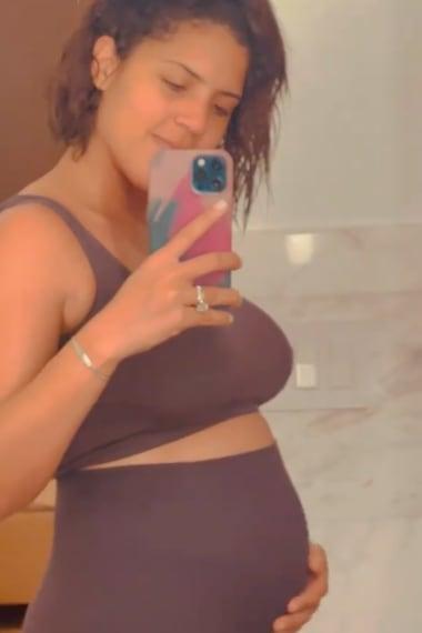 Francisca Lachapel subió muchos kilos por el embarazo (IG)