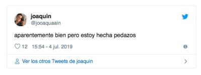 Joaquín Navarro mensaje