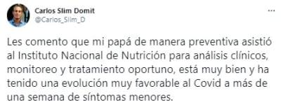 Carlos Slim contagiado coronavirus