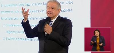 AMLO pide cancelar navidad, México, coronavirus,. Andrés Manuel López Obrador