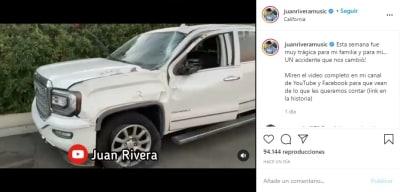 Juan Rivera accidente camioneta 1
