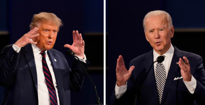 apagar micrófonos Trump Biden