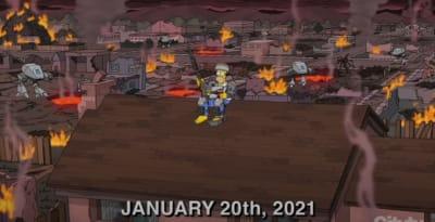 Captan a Batman en el Capitolio mientras difunden cómo Los Simpson acertaron predicción del caos
