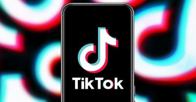 Smart phone with TIK TOK logo