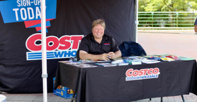 alestinian festival costco employee selling memberships for discount