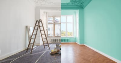 concepto de renovación_ casa antes y después de la renovación