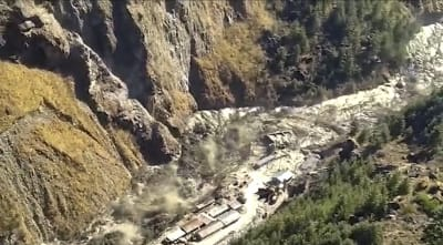 26 muertos y 165 desaparecidos por colapso de un glaciar al norte de la India
