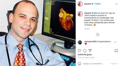 Dr Juan Rivera más joven y con cabello (Instagram)