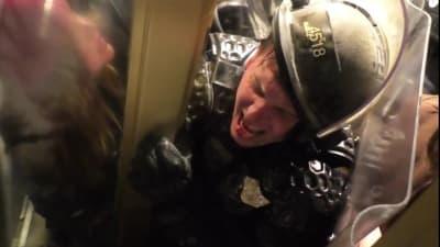Policía Capitolio, video, ataque