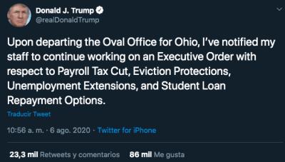 Trump orden ejecutiva desempleo