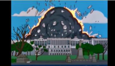 Captan a Batman en el Capitolio mientras difunden cómo Los Simpson acertaron predicción del caos Trump