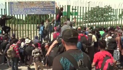 nmigrantes centroamericanos-frontera-México