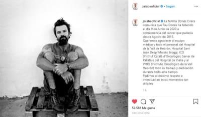 Luto muerte Pau Donés