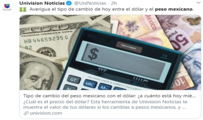 Peso mexicano 21 octubre