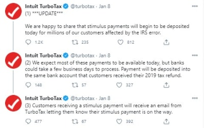 Turbotax Cheques $600