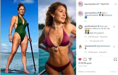 comparan JLo Geraldine Bazán bikini 1