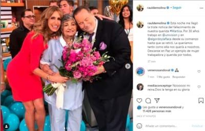 Lili Estefan está destrozada tras la muerte de Martica la del café