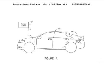 Autos Ford con drone